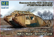British Male Mk I Tank Somme Battle 1916