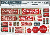 1/35 Coca Cola signage, Germany WWII