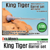 1/35 King Tiger 88mm Metal Barrel with mantle (for Academy)