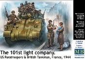 101th Light Company Paratroopers & British Tankmen France 1944