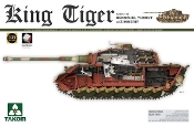 WWII German King Tiger SdKfz 182 Henschel Turret Heavy Tank w/Zimmerit & Interior