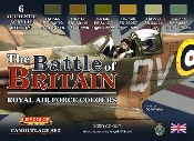 The Battle of Britain Royal Air Force Colors Camouflage Acrylic Set (6 22ml Bottles)