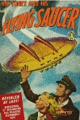 "Vic Torry & His Flying Saucer from Comic Book 5"" Dia"