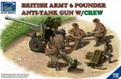 British Army 6-Pdr. Infantry Anti-Tank Gun w/4 Crew
