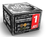 Real Colors: German Army Pre-WWII Acrylic Lacquer Paint Set (4) 10ml Bottles