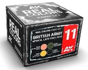 Real Colors: British Army Africa Late 1942-1943 Acrylic Lacquer Paint Set (4) 10ml Bottles