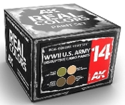 Real Colors: WWII US Army Disruptive Camo Acrylic Lacquer Paint Set (4) 10ml Bottles