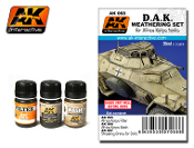 DAK Africa Korps Tanks Enamel Paint Set