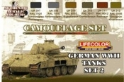 German WWII Tanks #2 Camouflage Acrylic Set (6 22ml Bottles)