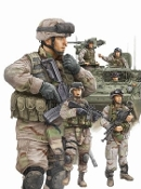 Modern US Army Crewmen & Infantry Figure Set (6)