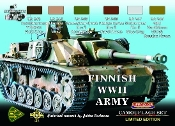 Finnish Army WWII Camouflage Acrylic Set (6 22ml Bottles)