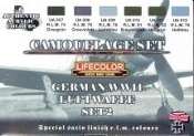 German WWII Luftwaffe #2 Camouflage Acrylic Set (6 22ml Bottles)