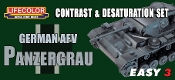 German AFV Panzergrau Contrast & Desaturation Acrylic Set (3