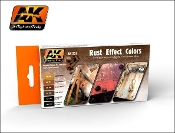 Rust Effects Acrylic Paint Set (6 Colors) 17ml Bottles