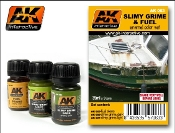 Slimy Grime & Fuel Stains Enamel Paint Set (25, 26, 27)