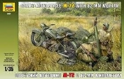 M72 Soviet Motorcycle w/82mm Mortar & 2 Crew