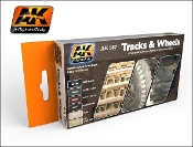 Tracks & Wheels Acryllic Paint set (6 colors)