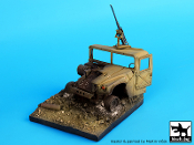 1/35 Destroyed HUMVEE base