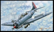 "1/18 SBD-3/4 ""Dauntless"" Dive Bomber, Early/Late Version"