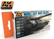 Middle East War Colors Vol.1 Acrylic Paint Set (6 Colors) 17ml Bottles