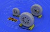 1/48 Aircraft- F16A/B Wheels for KIN (Photo-Etch & Resin)