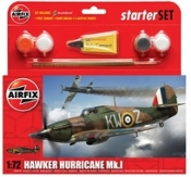 Hawker Hurricane Mk I Fighter Small Starter Set w/paint & glue