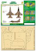 Airbrush CAMO-MASK for 1/48 F-16A NSAWC 53 Camo Scheme