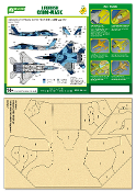 Airbrush CAMO-MASK for 1/48 F-15DJ 2005 JASDF Aggressor