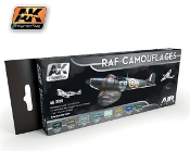 Air Series: RAF Camouflages Acrylic Paint Set (8 Colors) 17ml Bottles