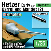 1/35 Hetzer Early version Barrel and Mantle Set(2) (for Academy)