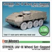 1/35 Stryker/LAV-III Sagged Wheel set (for AFV Club/Trumpeter)