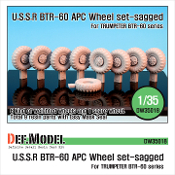 1/35 BTR-60 APC Sagged Wheel set (for Trumpeter)
