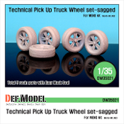 1/35 Technical Pick up Truck Sagged Wheel set (for Meng Model)