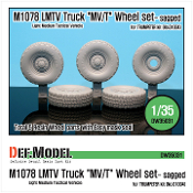 "1/35 M1078 LMTV Truck ""MV/T"" Sagged Wheel set (for Trumpeter)"