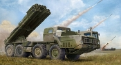 Russian 9A52-2 Smerch-M Multiple Rocket Launcher of RSZ0 9k58 Smerch MRLS