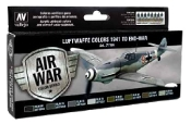 Luftwaffe Colors 1941 to End War Model Air Paint Set (8 Colors