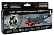 US Army Air Corps China-Burma-India (CBI) Pacific Theater WWII Model Air Paint Set (8 Colors)