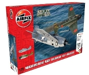 Nakajima B5N2 Kate & F4F4 Wildcat Dogfight Doubles Gift Set w/paint & glue