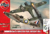 Dornier Do17z & Boulton Paul Defiant Mk I Dogfight Doubles Gift Set w/paint & glue