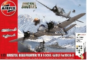 Bristol Beaufighter TF.X & Focke Wulf Fw190A8 Dogfight Doubles Gift Set w/paint & glue