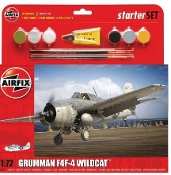 F4F4 Wildcat Aircraft Starter Set w/paint & glue