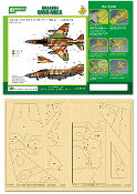 Airbrush CAMO-MASK for 1/48 IAF F-4 Phantom II Camo Scheme