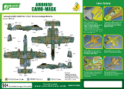 1/48 Airbrush CAMO-MASK for 1/48 A-10A Camouflage Scheme