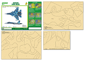 1/48 Airbrush CAMO-MASK for 1/48 SU-33 Camouflage Scheme