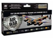 17ml Bottle RAF Colors Bomber & Training Air Command 1939-1945 Model Air Paint Set (8 Colors)