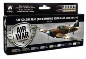 17ml Bottle RAF Colors SEAC (Air Command South East Asia) 1942-1945 Model Air Paint Set (8 Colors)