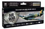 17ml Bottle FAA (Fleet Air Arm) Colors 1939-1945 Model Air Paint Set (8 Colors)