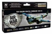 17ml Bottle RAF Colors Coastal Command 1939-1945 Model Air Paint Set (8 Colors)