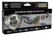 17ml Bottle RAF Colors Day Fighters 1941-1945 PRU Model Air Paint Set (8 Colors) (REVISED)
