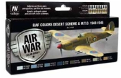 17ml Bottle RAF Desert Scheme & MTO 1940-1945 Model Air Paint Set (8 Colors) (REVISED)